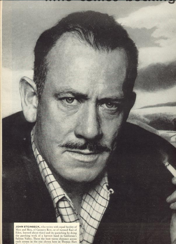 john steinbeck a brief biography John steinbeck was a famous american author known for his novels of rustic settings, like 'of mice and men', 'tortilla flat', 'the grapes of wrath', and 'east of eden', amongst several others.